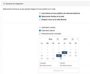 Calendario de reservas integrado en tu página web